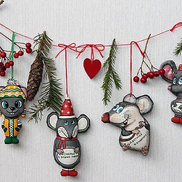 Куклы и игрушки ручной работы. Ярмарка Мастеров - ручная работа Мышки - символ 2020 года.. Handmade.