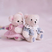 Куклы и игрушки handmade. Livemaster - original item mini Teddy Bears. Zosia and Osia (7cm).. Handmade.