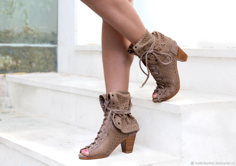 078c582c4dd Handmade Shoes handmade. Livemaster - handmade. Buy Women summer boots  genuine perforated leather.