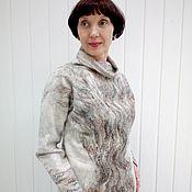 Одежда handmade. Livemaster - original item Sweaters: Wool Tree sweater. Handmade.