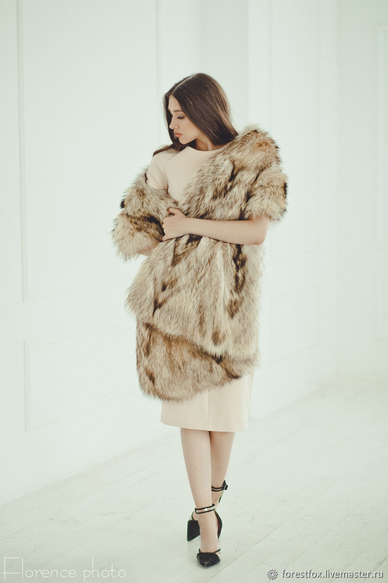 Raccoon fur stole, Wraps, Moscow,  Фото №1