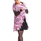 Одежда ручной работы. Ярмарка Мастеров - ручная работа Жилет из тонкого мохера и шерсти с шелком Розовая дымка рассвета. Handmade.