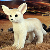 Куклы и игрушки handmade. Livemaster - original item fennec fox - desert fox (toy made of felt, felting). Handmade.