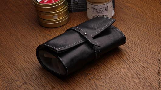 Мужские сумки ручной работы. Ярмарка Мастеров - ручная работа. Купить Сумка для 4-х трубок. Handmade. Черный
