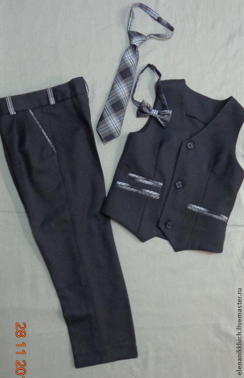 Одежда для мальчиков, ручной работы. Ярмарка Мастеров - ручная работа. Купить Комплект для мальчика. Handmade. В клеточку, брюки, школа