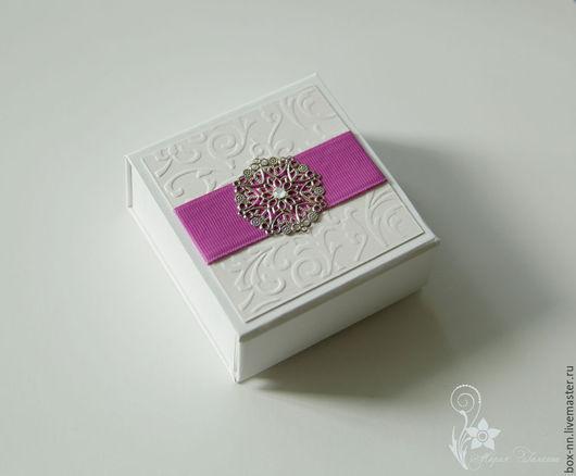 Подарочная упаковка ручной работы. Ярмарка Мастеров - ручная работа. Купить Коробочка(футляр) для флешки. Handmade. Белый, упаковка для флешки