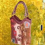 Истории Климта 2 сумка валяная + кожа натуральная