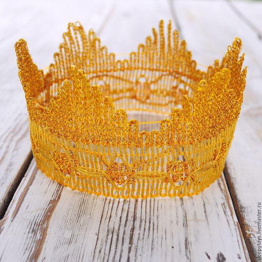 Повязки ручной работы. Ярмарка Мастеров - ручная работа. Купить Корона для фотосессии золотая. Handmade. Фотосессия новорожденных, аксессуары для фотосессий