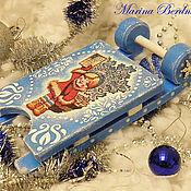 """Сувениры и подарки ручной работы. Ярмарка Мастеров - ручная работа Новогодние саночки """"Снегурочка"""". Handmade."""