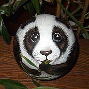 Сувениры и подарки handmade. Livemaster - original item Panda bear music ball tumbler. Handmade.