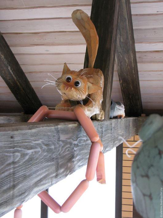 Элементы интерьера ручной работы. Ярмарка Мастеров - ручная работа. Купить Кот под крышей. Handmade. Серый