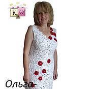 """Платья ручной работы. Ярмарка Мастеров - ручная работа Ирландское кружево Платье """"Маки"""" модель 2,авторская работа. Handmade."""