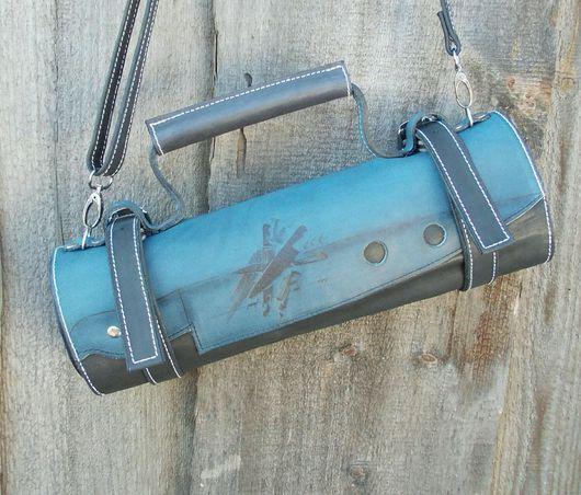 Мужские сумки ручной работы. Ярмарка Мастеров - ручная работа. Купить Скрутка для ножей кожа. Handmade. Скрутка для ножей