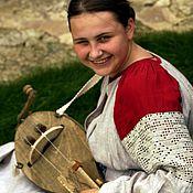Русский стиль ручной работы. Ярмарка Мастеров - ручная работа Рубаха женская льняная с прямыми поликами и филейным кружевом. Handmade.