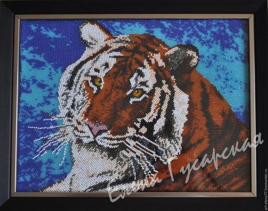 """Животные ручной работы. Ярмарка Мастеров - ручная работа. Купить Картина """"Тигр"""". Handmade. Картина, Картина ручной работы"""