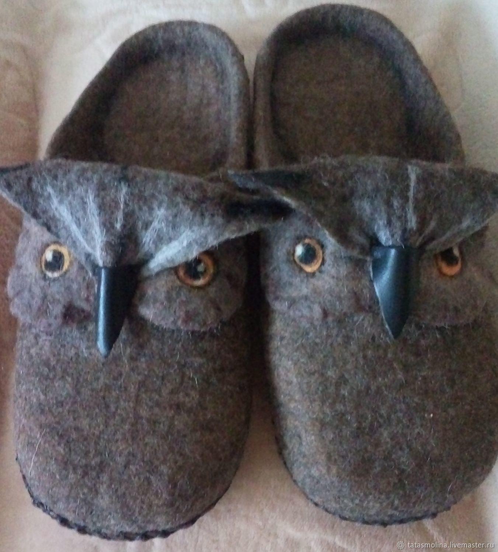 Тапочки: шлёпки-филины, Обувь, Зея, Фото №1