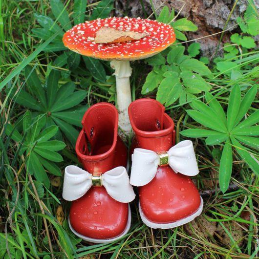 Обувь ручной работы. Ярмарка Мастеров - ручная работа. Купить Очаровательные резиновые полусапожки mini Melissa. Handmade. Полимерка, дети