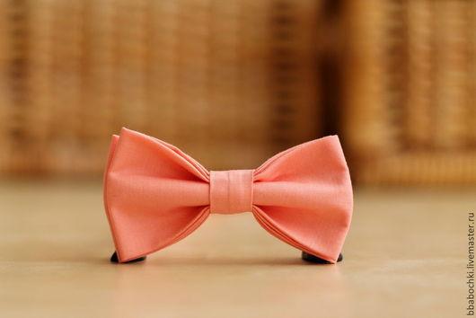 Галстуки, бабочки ручной работы. Ярмарка Мастеров - ручная работа. Купить Бабочка персиковая детская/взрослая. Handmade. Кремовый, бабочка