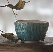 """Посуда ручной работы. Ярмарка Мастеров - ручная работа """"Прикосновение"""". Чайная пиала.. Handmade."""