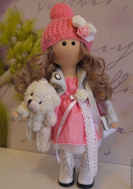 Коллекционные куклы ручной работы. Ярмарка Мастеров - ручная работа. Купить Текстильная куколка малышка Шейли. Handmade. Коралловый, фатин