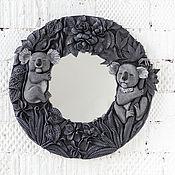 """Зеркала ручной работы. Ярмарка Мастеров - ручная работа Зеркало """"Коалы"""". вылеплено из полимерной глины DECO. Handmade."""