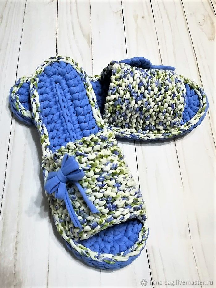 Slippers knitted knitted 39 size, Slippers, Sochi,  Фото №1