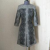 Одежда ручной работы. Ярмарка Мастеров - ручная работа Шерстяное платье с кружевом. Handmade.
