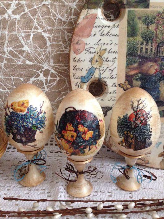 Подарки на Пасху ручной работы. Ярмарка Мастеров - ручная работа. Купить яйца пасхальные. Handmade. Бежевый, пасхальный декор, блёстки