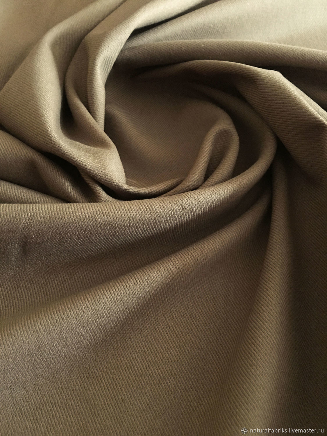 Italian brown cotton suit fabric, stretch, Fabric, St. Petersburg,  Фото №1
