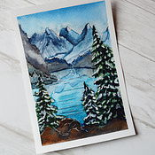 "Открытки handmade. Livemaster - original item Watercolor drawing ""Banff national park"" Canada. Handmade."