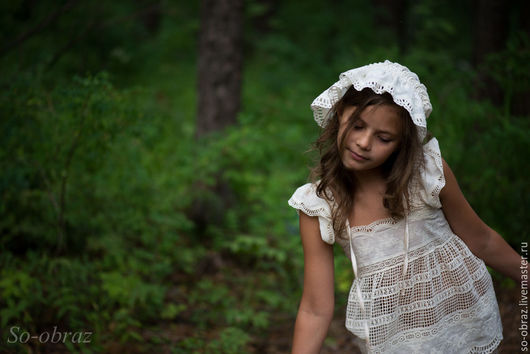 """Одежда для девочек, ручной работы. Ярмарка Мастеров - ручная работа. Купить Детский комплект нижнего белья в силе Бохо """"Сны"""". Handmade."""