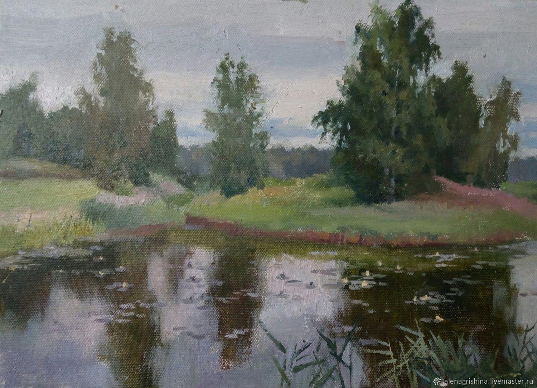 Пруд в Петровском парке, Картины, Санкт-Петербург,  Фото №1