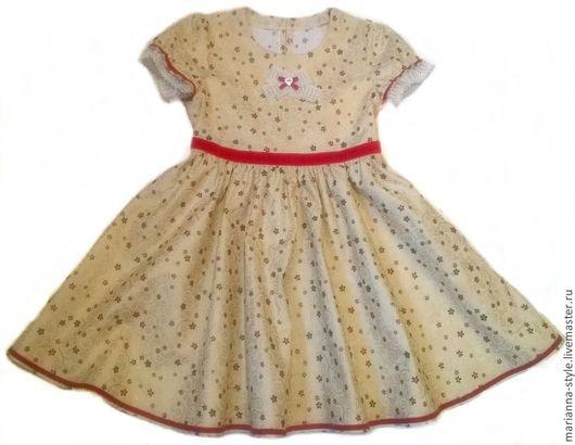 """Одежда для девочек, ручной работы. Ярмарка Мастеров - ручная работа. Купить Платье для девочки из американского хлопка """" Кристина"""". Handmade."""