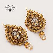 Украшения handmade. Livemaster - original item Earrings e Monarch tatting e, designer earrings. Handmade.