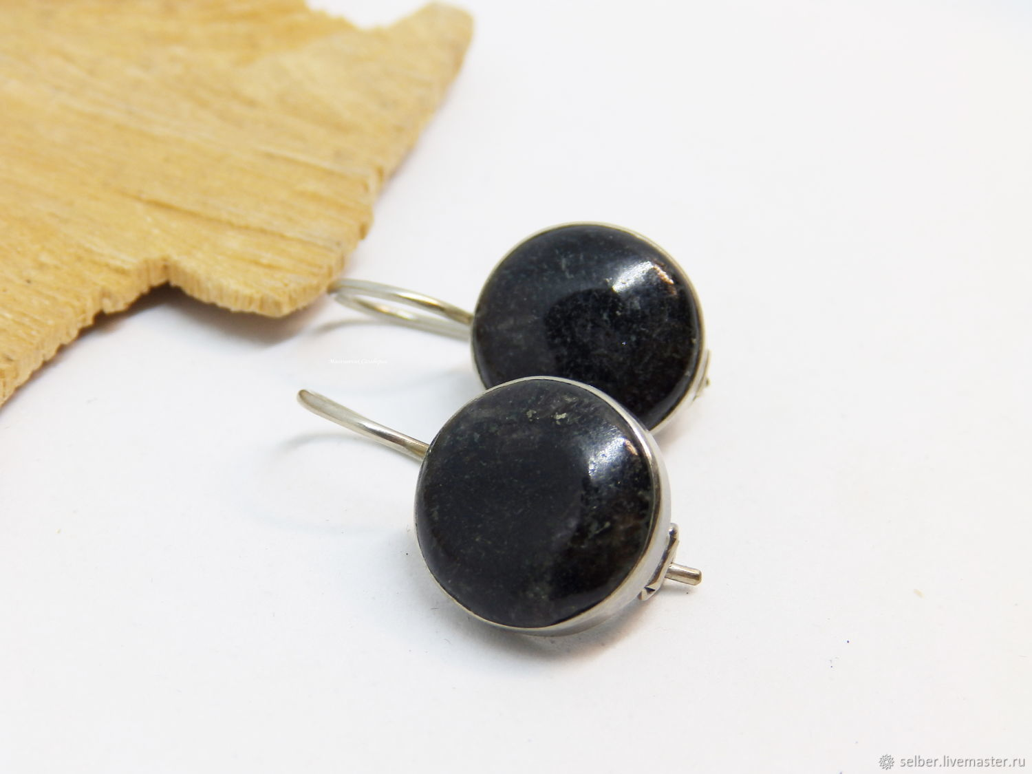 Earrings numita 'the Black waters of the North', Earrings, Gatchina,  Фото №1