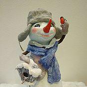 Куклы и игрушки ручной работы. Ярмарка Мастеров - ручная работа Снеговичок Ватная игрушка.. Handmade.