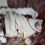 Аксессуары ручной работы. Ярмарка Мастеров - ручная работа митенки винтажные с хлопковым кружевом и  жемчужными бусинами)). Handmade.