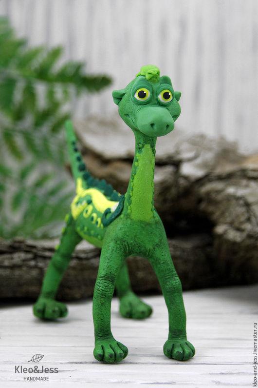 Игрушки животные, ручной работы. Ярмарка Мастеров - ручная работа. Купить Дракозавр лесной чащи (зеленый дракон, фигурка дракон, дракончик). Handmade.