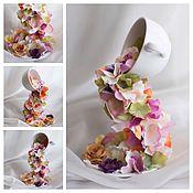 Цветы и флористика ручной работы. Ярмарка Мастеров - ручная работа Парящая чашка. Handmade.