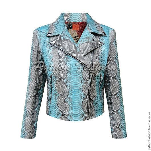Куртка из кожи питона. Модная женская куртка из питона на молнии. Весенняя куртка ручной работы. Красивая женская куртка из питона. Дизайнерская куртка из питона на заказ. Куртка из питона на весну.