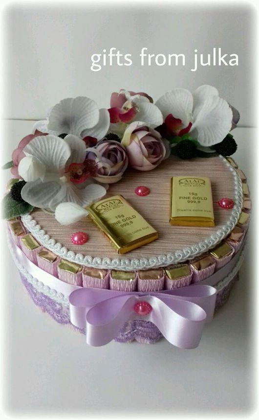 """Букеты ручной работы. Ярмарка Мастеров - ручная работа. Купить Торт из конфет """" Орхидея 2"""". Handmade. Торт из конфет"""