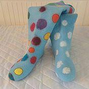 Обувь ручной работы handmade. Livemaster - original item slippers - flower. Handmade.