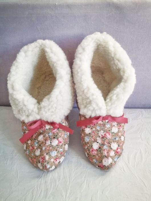 Обувь ручной работы. Ярмарка Мастеров - ручная работа. Купить Тапочки Flowers. Handmade. Домашние тапочки, тапочки для дома