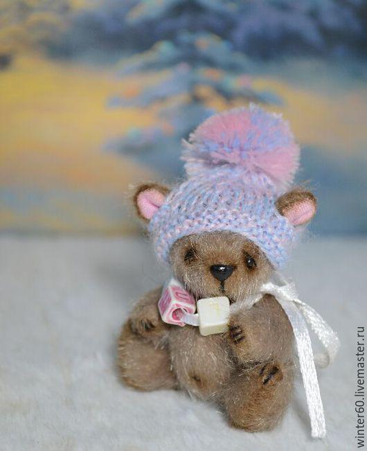 Мишки Тедди ручной работы. Ярмарка Мастеров - ручная работа. Купить Медвежонок Маппик 3. Handmade. Бежевый, зимний