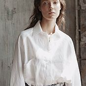 Одежда handmade. Livemaster - original item Women`s shirt with patch pockets. Handmade.