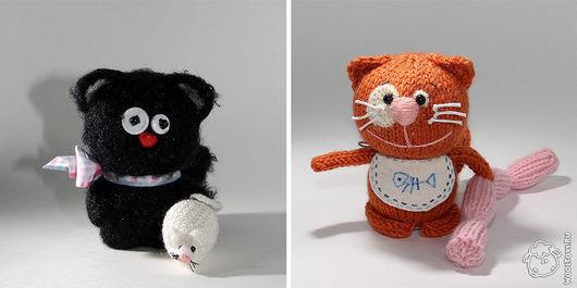 Игрушки животные, ручной работы. Ярмарка Мастеров - ручная работа. Купить Банда котов. Handmade. Игрушка, пушистый, пряжа