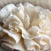 Украшения ручной работы. Ярмарка Мастеров - ручная работа Брошь цветок из войлока. Handmade.