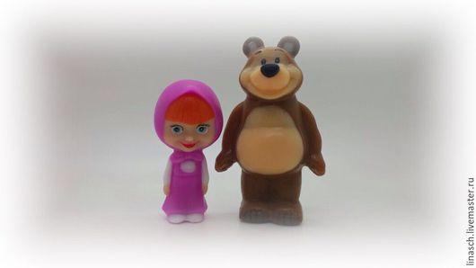 """Мыло ручной работы. Ярмарка Мастеров - ручная работа. Купить Набор мыла """"Маша и Медведь"""". Handmade. Коричневый, мишка"""