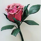 """Украшения ручной работы. Ярмарка Мастеров - ручная работа Брошь из кожи """"Эмми"""". Цветы из кожи, роза из кожи, броши из кожи.. Handmade."""