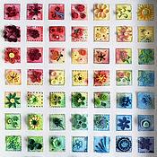 Картины и панно ручной работы. Ярмарка Мастеров - ручная работа Квиллинг панно - Цветочный сэмплер. Handmade.